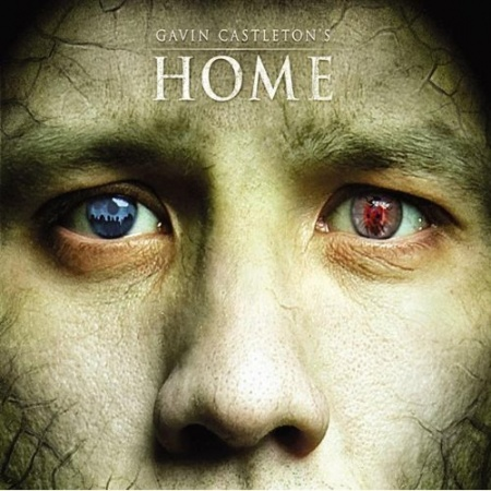 Even Home's artwork is a deception of sorts; the red and the blue represent two sides of a lie.